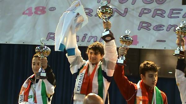 Matteo sul podio di Rimini